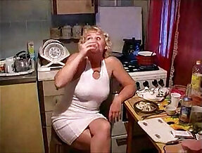 A mom fucked by her son in the kitchen river