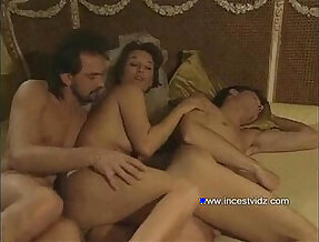 Mom tries to entice her son into threesome action with her boyfriend
