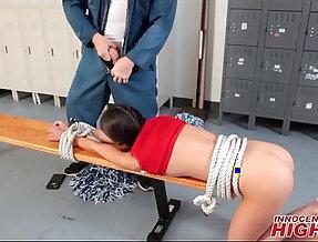 High School Cheerleader Tied Up