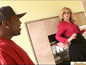 Enormous black monster cocks make this blonde a really happy woman