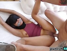 Brunette amateur Teen Maya Bijou Bondage Fucking Punish