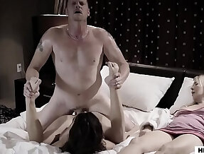 Daddy fucks Step daughter next to her wife! Ashley Adams