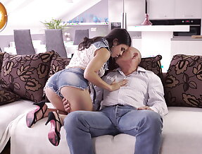 Rough sex for stunning latina babe